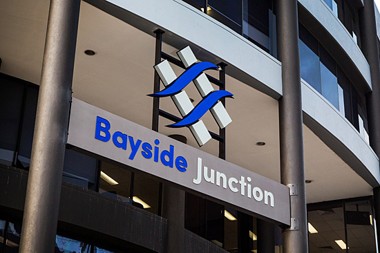 The Bayside Junction building features a revamped foyer and other improved amenities