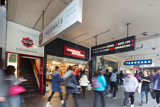 Commercial properties like this Melbourneretail outlet and Hare Krishna centre continue to be targets for overseas investors