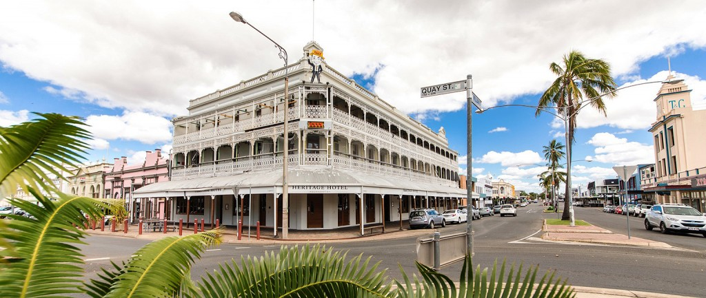 Rockhampton's Heritage Hotel is set to be auctioned.