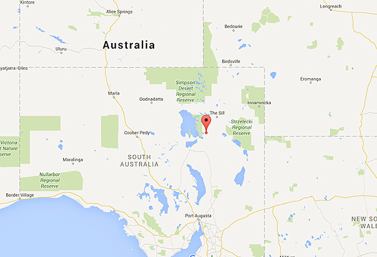 Anna Creek lies near Lake Eyre, in South Australia's north-east. Picture: Google
