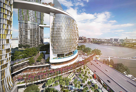 The Queen's Wharf development will bring another 1100 rooms to the Brisbane CBD.