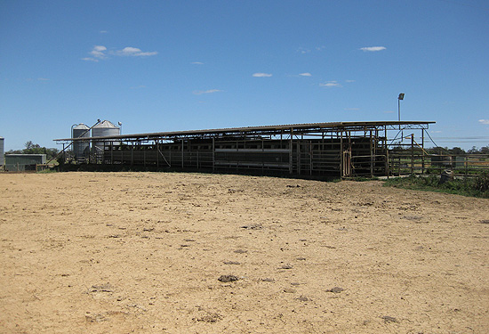 The farm features numerous improvements, including two dairies and five dwellings.
