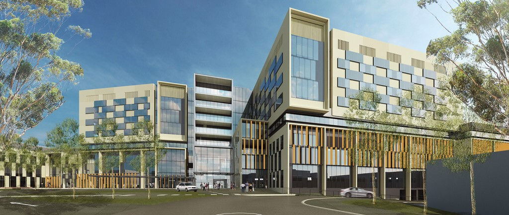 The new Bendigo Hospital will include eight retail outlets and a conference facility.