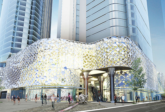 An artist's impression of W Brisbane Hotel, which is scheduled to open in 2018. Picture: Starwood Hotels.