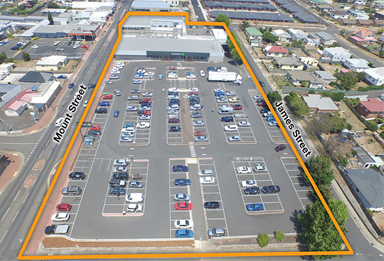 The Woolworths supermarket in Burnie features 200 on-site car parks.
