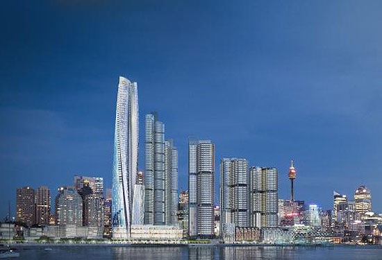 An artist's impression of the Crown Sydney casino at Barangaroo, which has won approval from state planners.