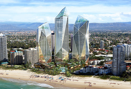 An artist's impression of the Jewel development on the Gold Coast.