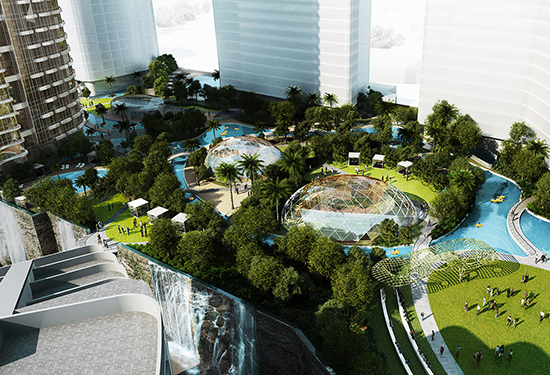 The Star Entertainment Group's plans for Jupiters Resort include a huge deck and recreational area.