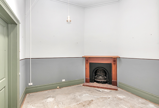 Many of the offices feature original fireplaces.