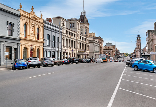 Lynn's Chambers forms part of one of Ballarat's most famous streetscapes.