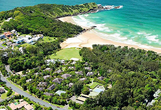 The resort sits on more than 6000sqm of prime beachfront land.