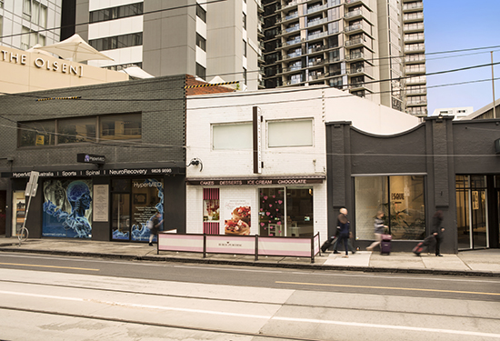 The two-storey retail building at 647 Chapel St sold for $3.2 million.