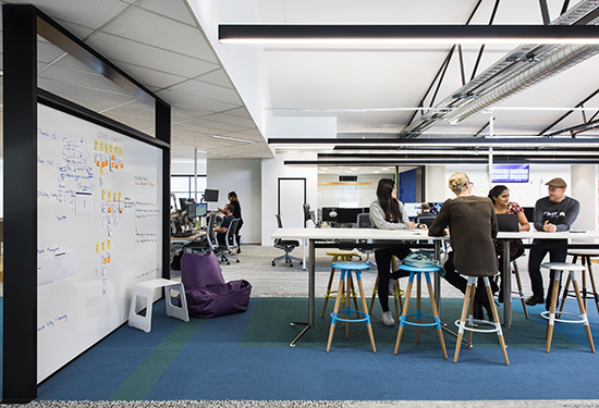 One of the new meeting areas at the MYOB office.