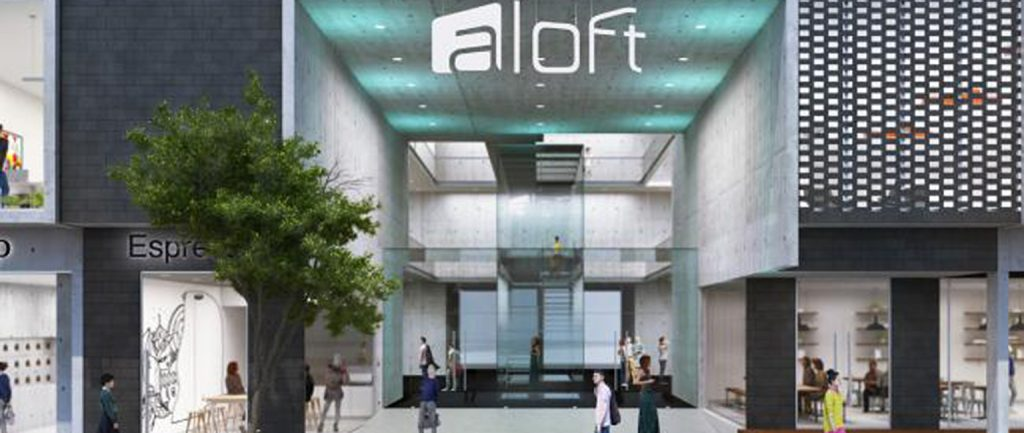 An artist's impression of the Aloft hotel in Melbourne