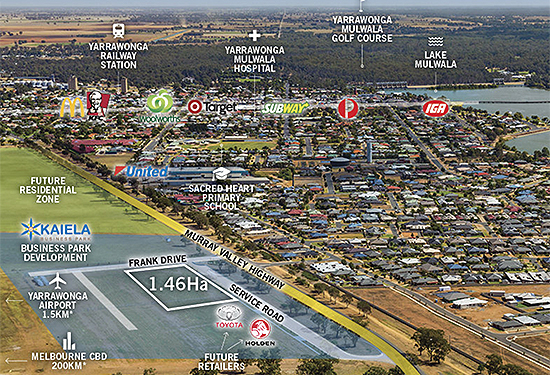 The new Yarrawonga Bunnings will be positioned in a major development precinct.