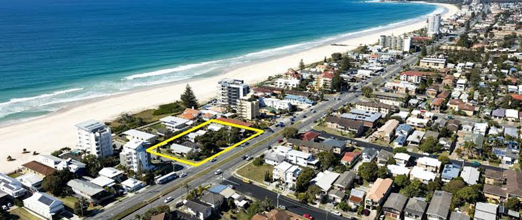 A beachside site at Palm Beach on the Gold Coast is to be sold for the first time in 30 years.