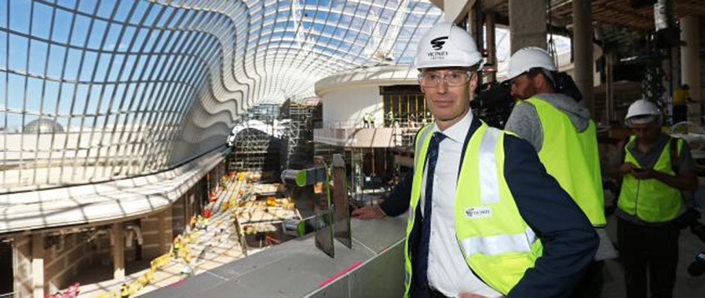 Angus McNaughton oversees the redevelopment at Melbourne's Chadstone centre. Picture: Aaron Francis