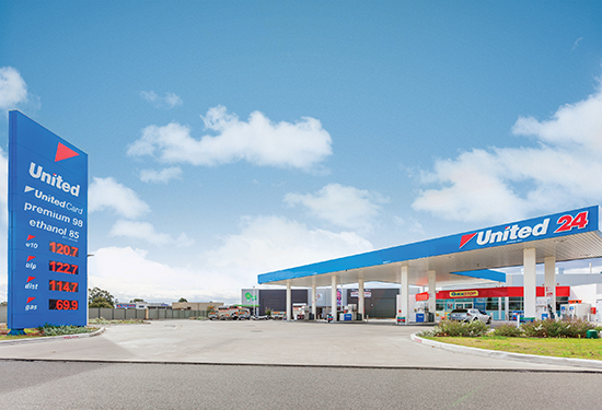United petrol stations featured heavily at Burgess Rawson's auctions.