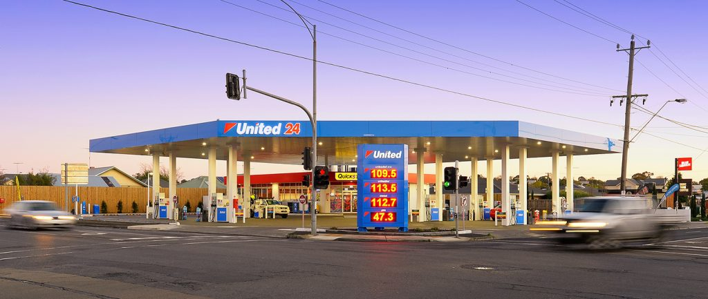 A United petrol station at Geelong was one of a number to sell at the latest Burgess Rawson portfolio auctions.