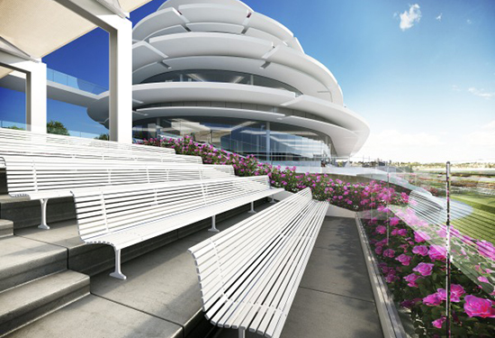 The new stand will provide 360-degree views of the track.