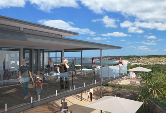 An artist's impression of the proposed luxury resort at Western Australia's Margaret River.