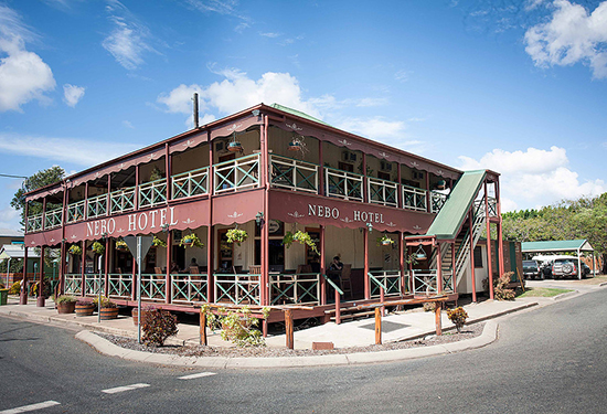 The historic Nebo Hotel is the latest Queensland establishment to hit the market.