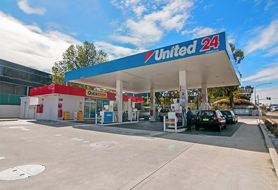 The United petrol station at Rydalmere sold at auction.