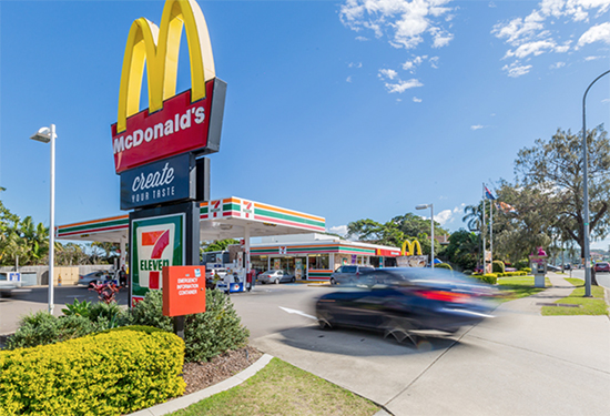 The site has long-term leases to both 7-Eleven and McDonald's.