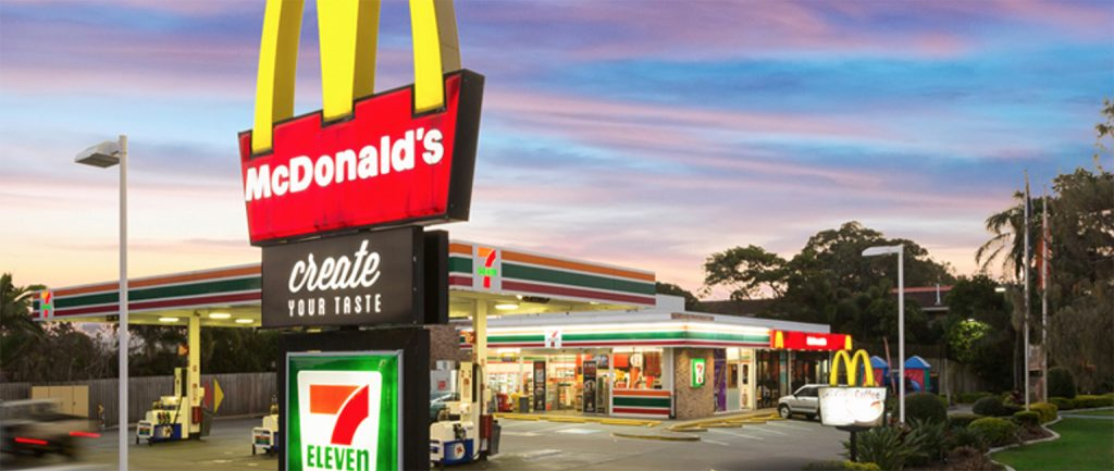 The Palm Beach 7-Eleven and McDonald's.