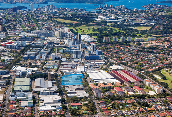 The development site in Rosebery is expected to sell for more than $100 million.