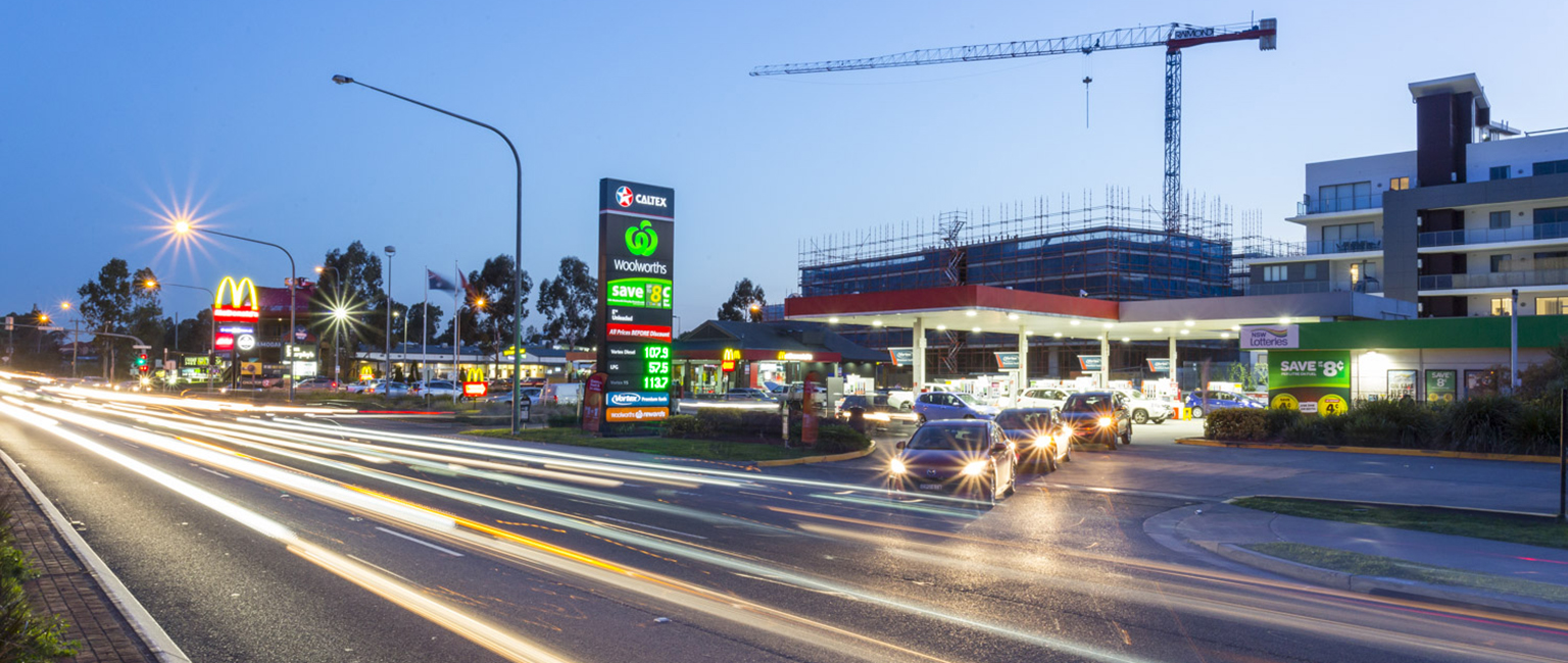 The Woolworths Caltex service station in western Sydney.