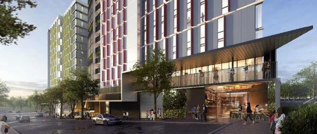 An artist's impression of Singapore-listed Wee Hur's student accommodation development in Brisbane.