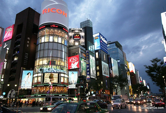 The Ginza district in Tokyo. Picture: gojapango.com.
