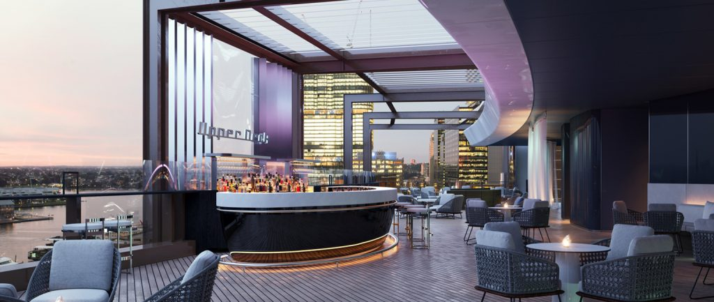 Sydney's Hyatt Regency rooftop bar, as designed by Bates Smart.