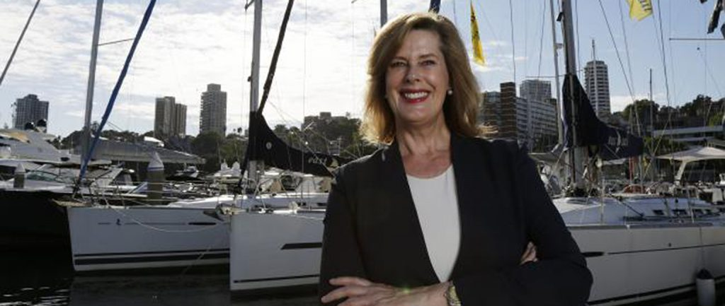 Deborah Thomas, photographed at d'Albora Marinas at Sydney's Rushcutters Bay. Pic: Brad Hunter