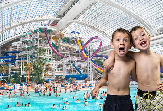 West Edmonton Mall features a giant water park. Picture: West Edmonton Mall.