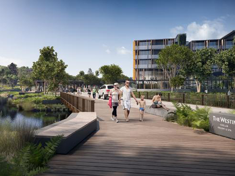 An artist's impression of the proposed $900 million Sekisui House development at Coolum.