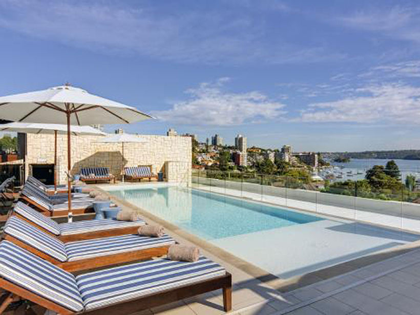 The rooftop pool at the Intercontinental Sydney Double Bay, which sold in 2017.