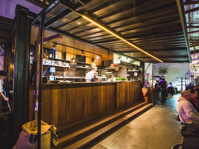 Don Tapa restaurant in Fremantle lives in a converted shipping container. Picture: Contained.