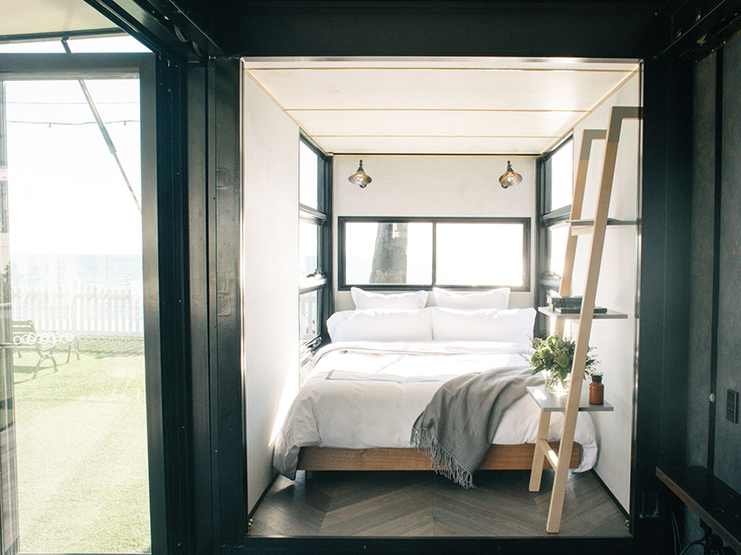 Contained container bedroom shipping container