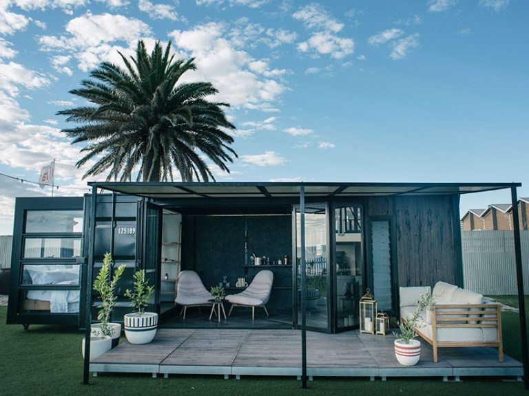 From shipping container to glam accommodation