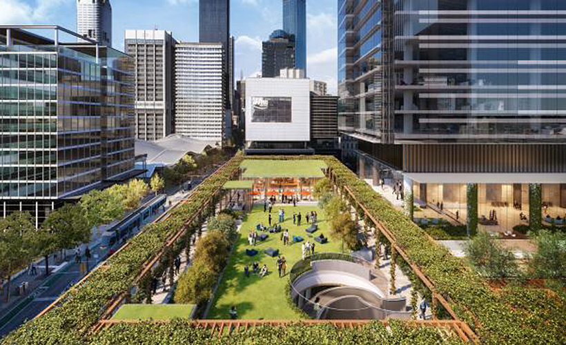 One Melbourne Quarter CBD tower office open space