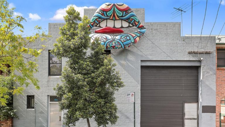 Sydney warehouse comes with mechanical, moving lips