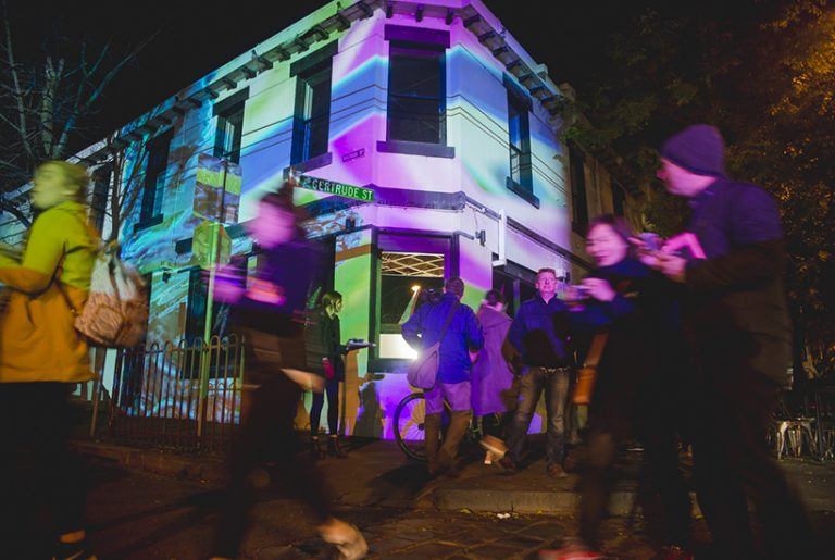 PICTURES: Projections light up Gertrude St