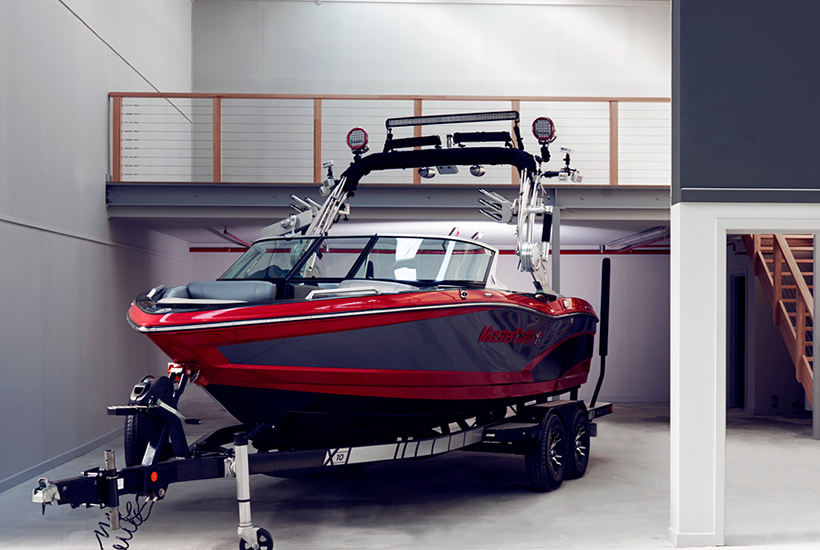 Man cave boat storage industrial