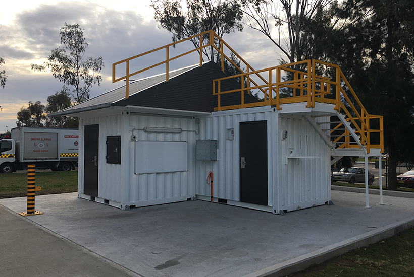 Fire training shipping container