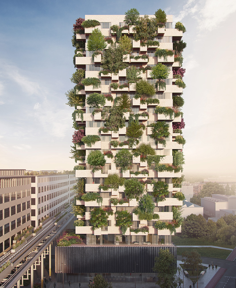 Vertical forest Eindhoven Netherlands social housing