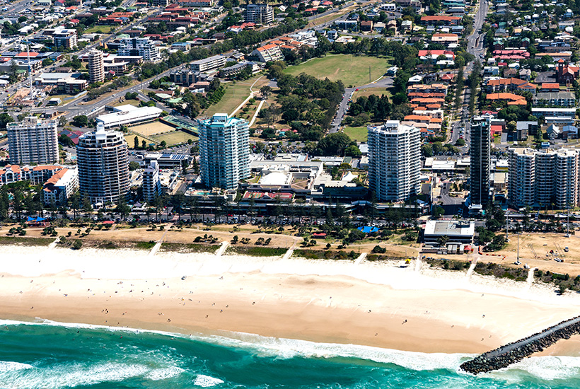 The Strand Coolangatta retail shopping centre