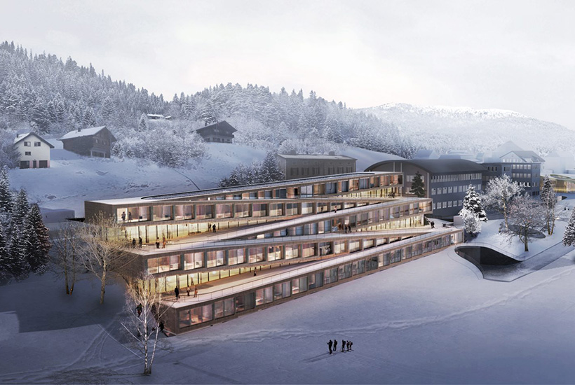 This Swiss hotel has a ski slope as its roof