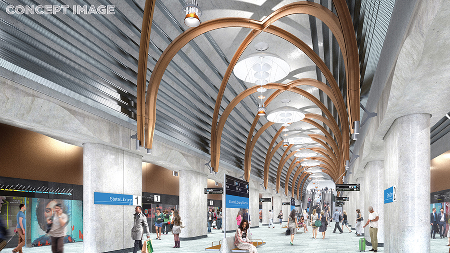 Melbourne's Metro Tunnel Train Station Designs Revealed